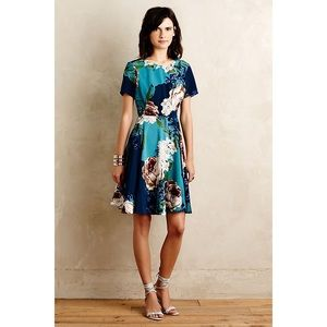 Anthro Corey Lynn Calter Floral Fit & Flare Dress